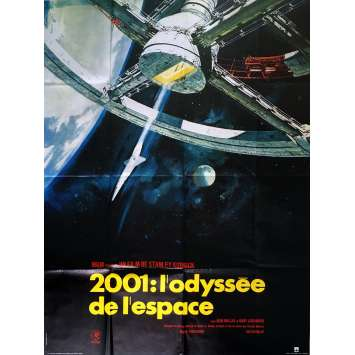 2001 A SPACE ODYSSEY French 47x63 R83 Stanley Kubrick Cult Sci-fi