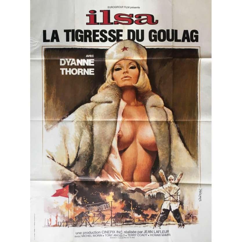 ILSA LA TIGRESSE DU GOULAG Affiche FR 120x160 Movie Poster nazixploitation C6