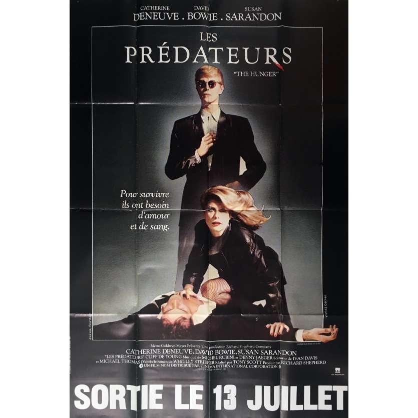 LES PREDATEURS Affiche de film 120x160 cm - 1983 - David Bowie, Tony Scott