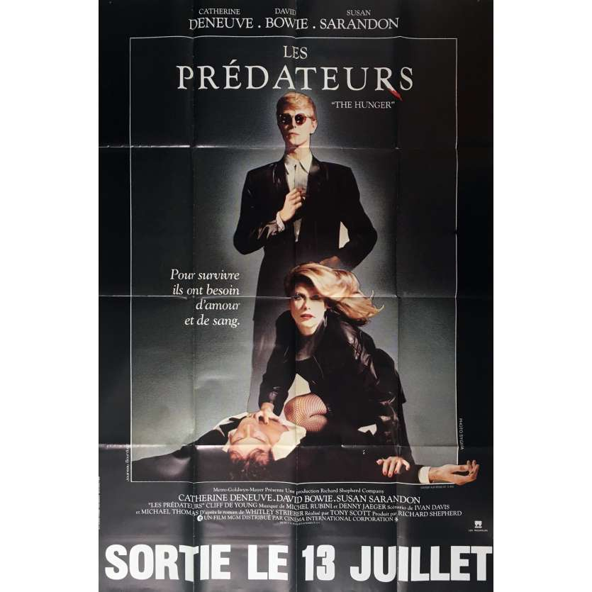 THE HUNGER Movie Poster 47x63 in. French - 1983 - Tony Scott, David Bowie