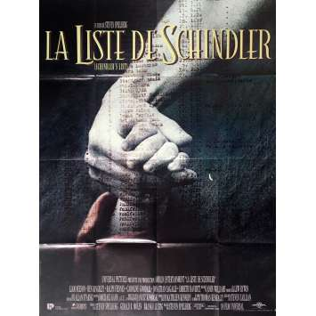 SCHINDLER'S LIST Movie Poster 47x63 in. French - 1993 - Steven Spielberg, Liam Neeson