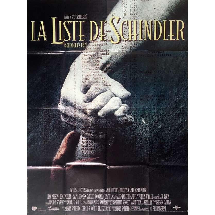 SCHINDLER'S LIST Movie Poster 47x63 in. French - 1993 - Steven Spielberg, Liam Neeson