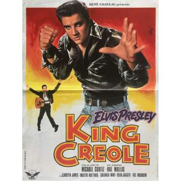 KING CREOLE French Movie Poster 15x21 R78 Elvis Presley