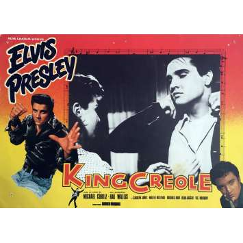 KING CREOLE Lobby Card 9,5x12 in. - N01 R1970 - Michael Curtiz, Elvis Presley