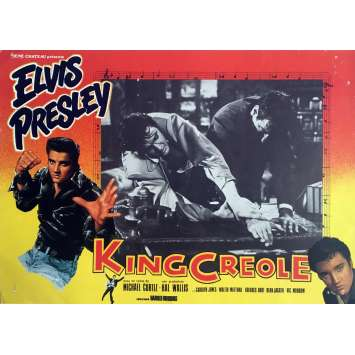 KING CREOLE Lobby Card 9,5x12 in. - N03 R1970 - Michael Curtiz, Elvis Presley