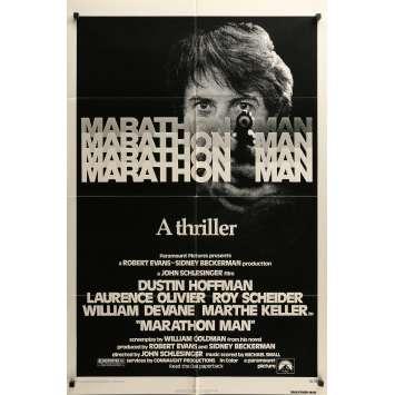 MARATHON MAN Movie Poster 29x41 in. - 1976 - John Schlesinger, Dustin Hoffman
