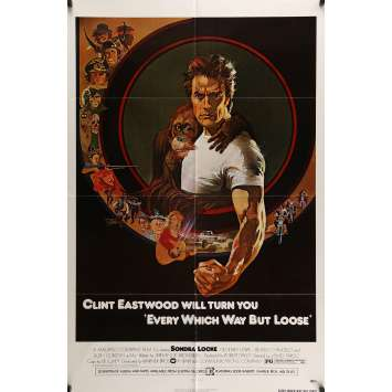 EVERY WHICH WAY BUT LOOSE Movie Poster 29x41 in. - 1978 - Clint Eastwood, Sondra Locke