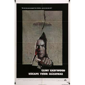 ESCAPE FROM ALCATRAZ Movie Poster 29x41 in. - 1979 - Don Siegel, Clint Eastwood