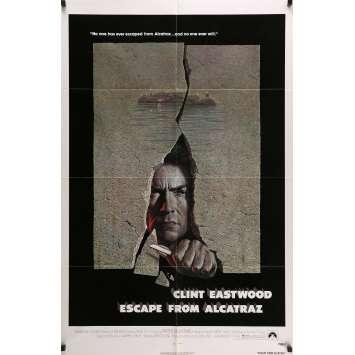 L'EVADE D'ALCATRAZ Affiche de film 69x104 cm - 1979 - Clint Eastwood, Don Siegel