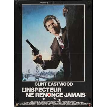 L'INSPECTEUR NE RENONCE JAMAIS Affiche de film 60x80 cm - 1976 - Clint Eastwood, James Fargo
