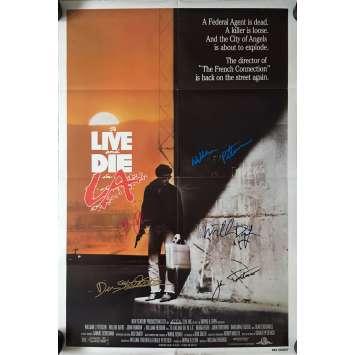 POLICE FEDERALE LOS ANGELES Affiche de film SIGNEE x5 ! - 1985 - Dafoe, Petersen…