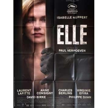 ELLE Affiche de film 120x160 cm - 2016 - Isabelle Huppert, Paul Verhoeven