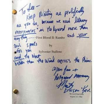 RAMBO 2 Scénario du film signé - 1984 - Martin Kove