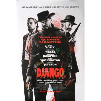 DJANGO UNCHAINED Signed by the cast x14 ! 27x40 in. 2012 - Tarantino
