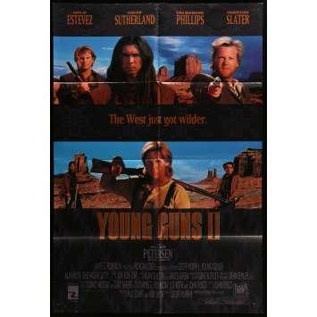 YOUNG GUNS 2 Affiche de film 69x101 cm - 1990 - Kieffer Sutherland, Geoff Murphy