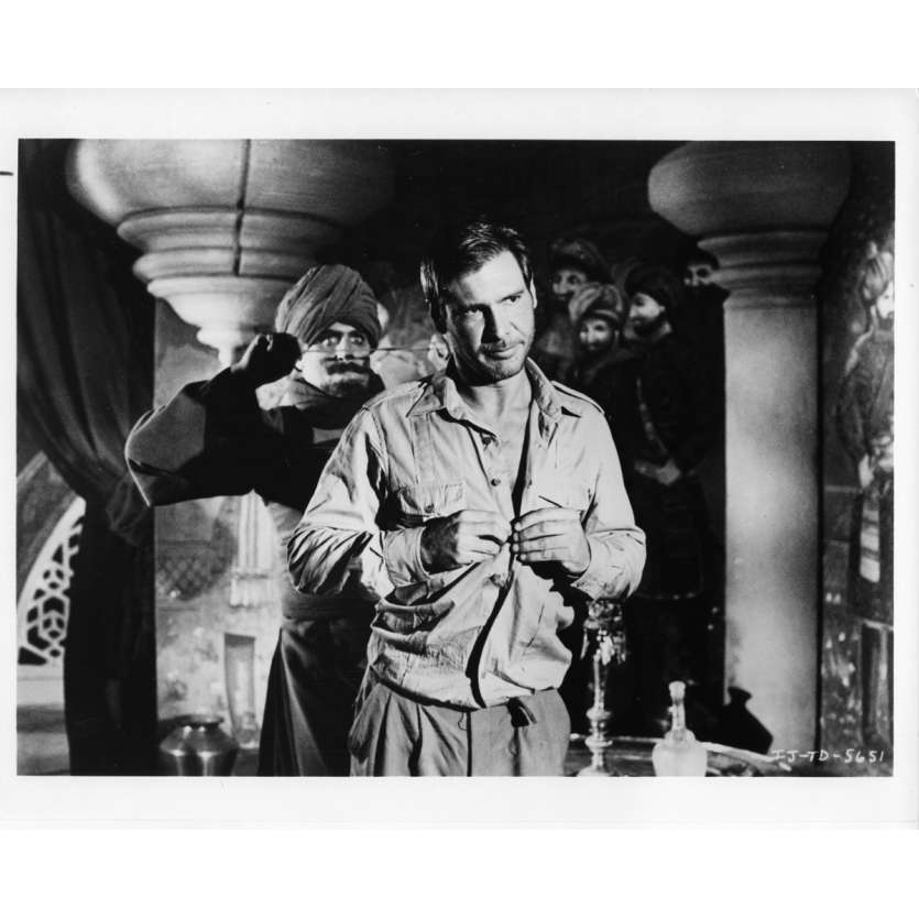 INDIANA JONES AND THE TEMPLE OF DOOM US Still 4 8x10- 1984 - Steven Spielberg, Harrison Ford