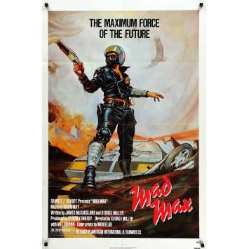MAD MAX Affiche américaine 1sh R83 Mel Gibson Movie Poster