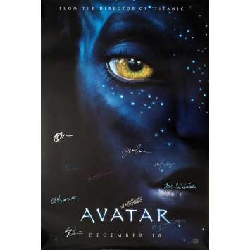 AVATAR Affiche de film 69x104 cm - 2009 - Sam Worthington, James Cameron