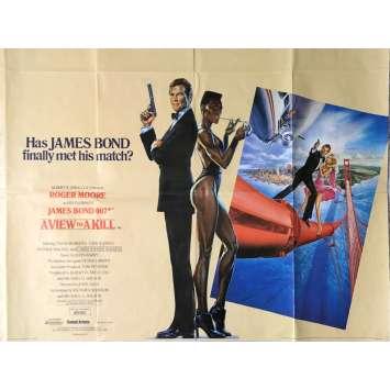 DANGEREUSEMENT VOTRE Affiche de film 72x104 cm - 1985 - Roger Moore, John Glen