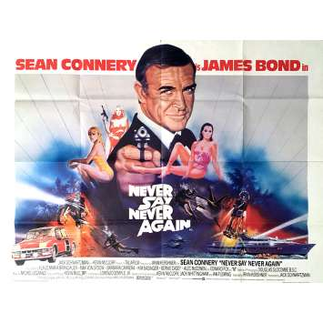 NEVER SAY NEVER AGAIN Movie Poster 30x40 in. - 1983 - Irvin Keshner, Sean Connery