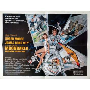 MOONRAKER Movie Poster 21x28 in. - Style B. Span. 1979 - James Bond, Roger Moore