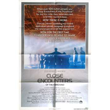 CLOSE ENCOUNTERS OF THE THIRD KIND Movie Poster 27x41 in. - R1980 - Steven Spielberg, Richard Dreyfuss