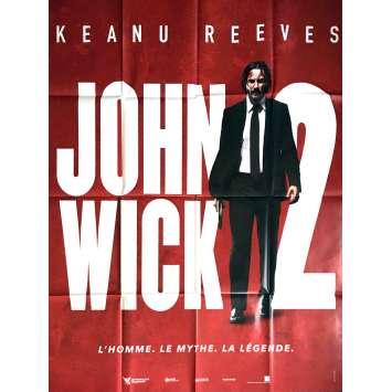 JOHN WICK 2 Affiche de film 120x160 cm - 2017 - Keanu Reeves, Chad Stahelski