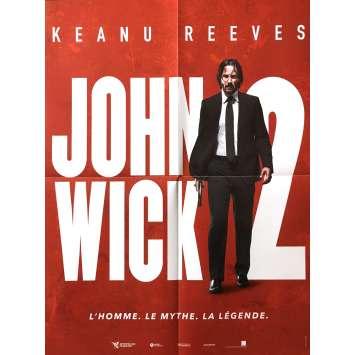 JOHN WICK 2 Affiche de film 40x60 cm - 2017 - Keanu Reeves, Chad Stahelski