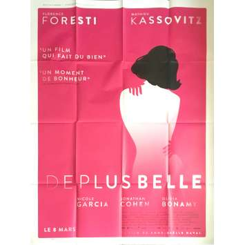 DE PLUS BELLE Movie Poster 47x63 in. - 2017 - Anne-Gaëlle Daval, Florence Foresti