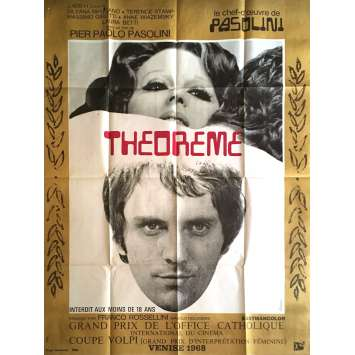 THEOREME Affiche de film 120x160 cm - 1968 - Terence Stamp, Pier Paolo Pasolini