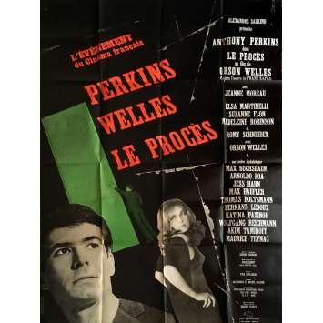 LE PROCES Affiche de film 120x160 cm - R2015 - Jeanne Moreau, Orson Welles