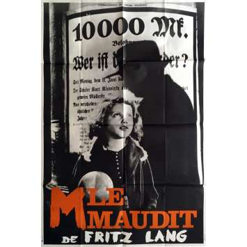 M Movie Poster 32x47 in. - R1960 - Fritz Lang, Peter Lorre