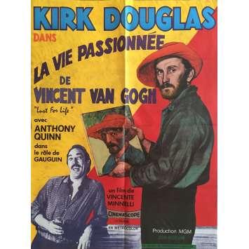 LA VIE PASSIONNEE DE VINCENT VAN GOGH Affiche de film 60x80 cm - R1980 - Kirk Douglas, Vincente Minelli