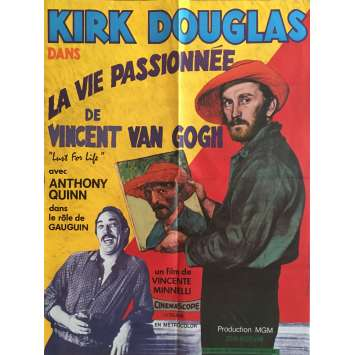 LUST FOR LIFE Movie Poster 23x32 in. - R1980 - Vincente Minelli, Kirk Douglas