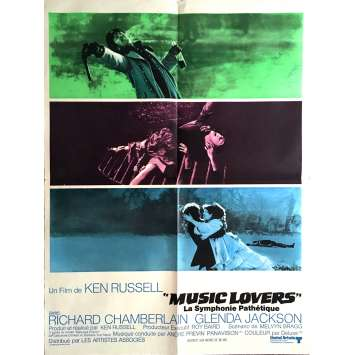 THE MUSIC LOVERS Movie Poster 23x32 in. - 1970 - Ken Russel, Richard Chamberlain