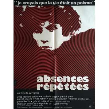 REPEATED ABSENCES Movie Poster 23x32 in. - 1972 - Guy Gilles, Daniele Delorme