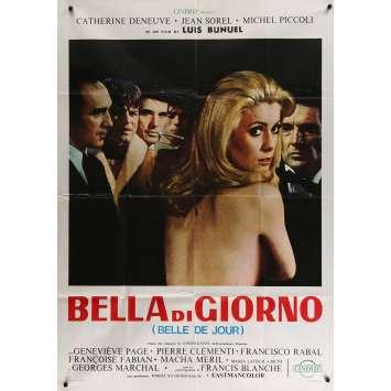 BELLE DE JOUR Affiche de Film 99x140 - 1970 - Deneuve, Bunuel, bella di giorno