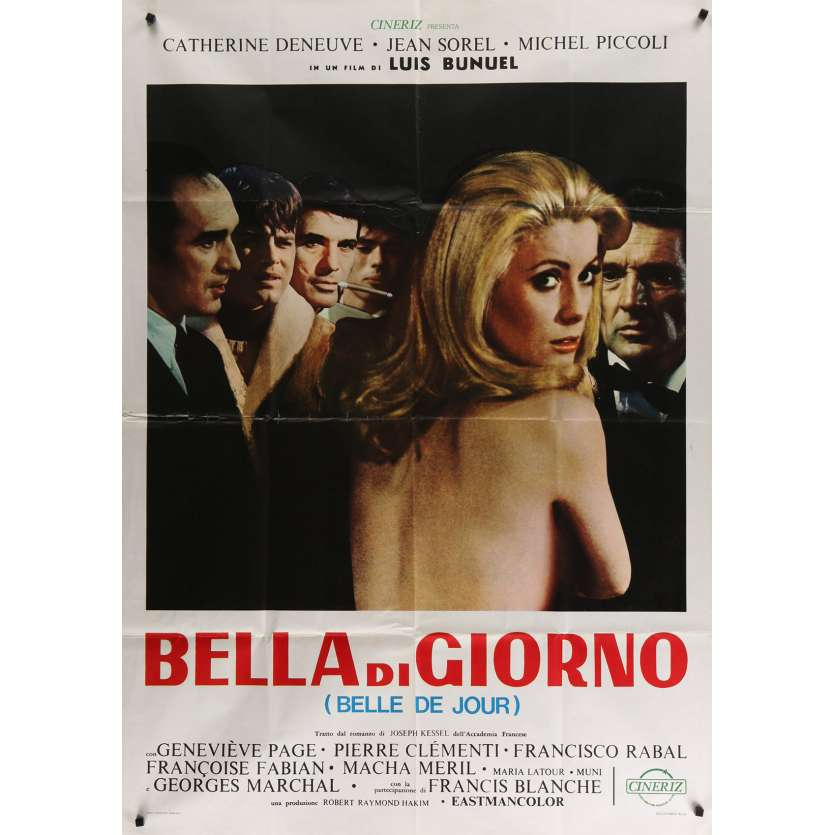 BELLE DE JOUR Italian Movie Poster 39x55- 1970 - Luis Bunuel, Catherine Deneuve