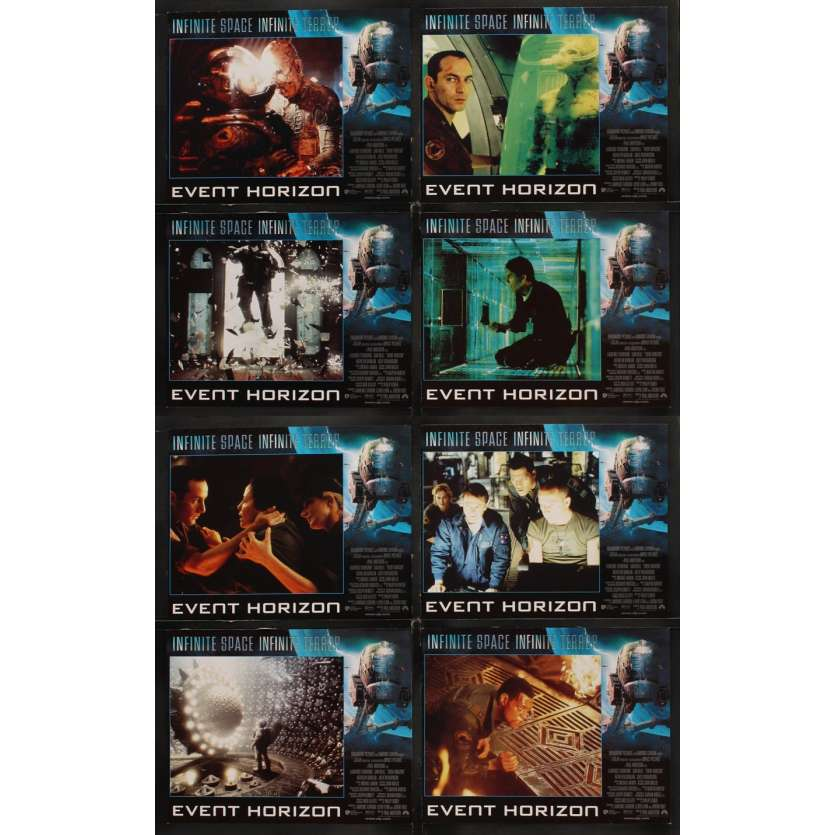 EVENT HORIZON 8 Lobby Cards '97 Laurence Fishburne, Sam Neill, Kathleen Quinlan
