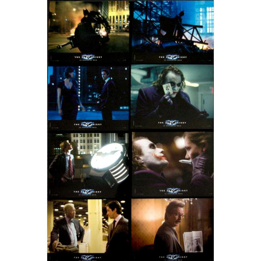 BATMAN THE DARK NIGHT French Lobby Card Set x12 '08 Christopher Nolan