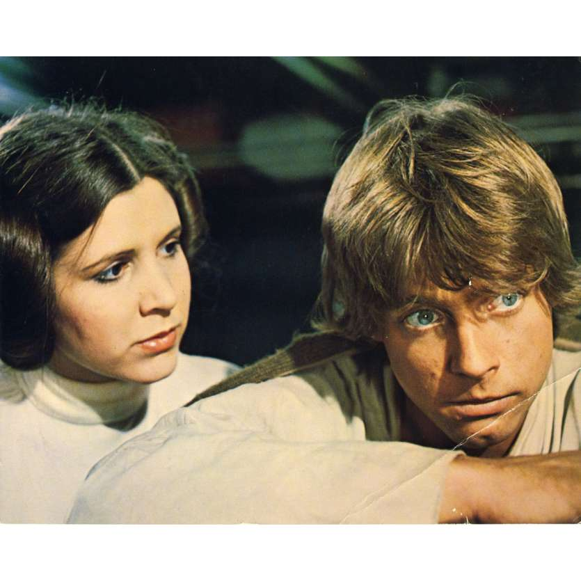 STAR WARS - A NEW HOPE DeLuxe Lobby Card 1 8x10 - 1977 - George Lucas, Harrison Ford