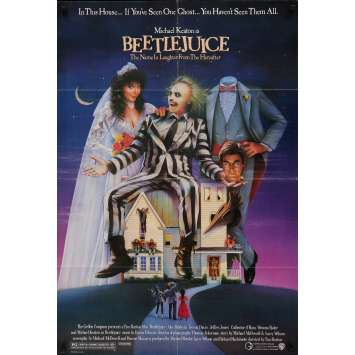 BEETLEJUICE US Movie Poster 29x41 - 1988 - Tim Burton, Michael Keaton