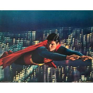 SUPERMAN DeLuxe Lobby Card 11x14 in. - N03 1978 - Richard Donner, Christopher Reeves