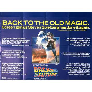 BACK TO THE FUTURE British Quad Reviews Movie Poster - 1985 - Robert Zemeckis