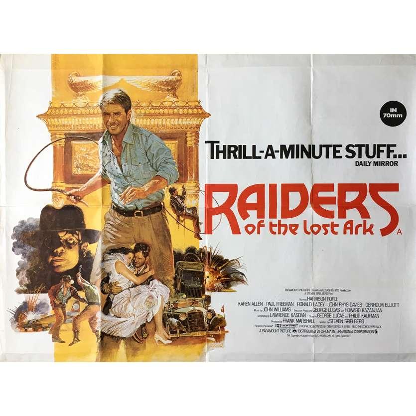 LES AVENTURIERS DE L'ARCHE PERDUE Affiche de film 72x104 cm - 1981 - Harrison Ford, Steven Spielberg