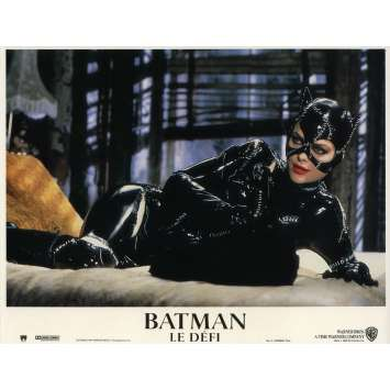 BATMAN RETURNS Lobby Card 9x12 in. - N12 1992 - Tim Burton, Michael Keaton