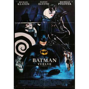 BATMAN RETURNS Movie Poster 27x40 in. - Style C, SpanUS 1992 - Tim Burton, Michael Keaton