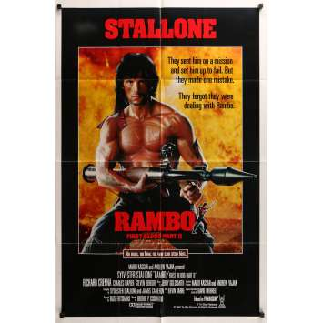 RAMBO FIRST BLOOD PART II style A int'l 1sh '85 no law, no war can't stop him