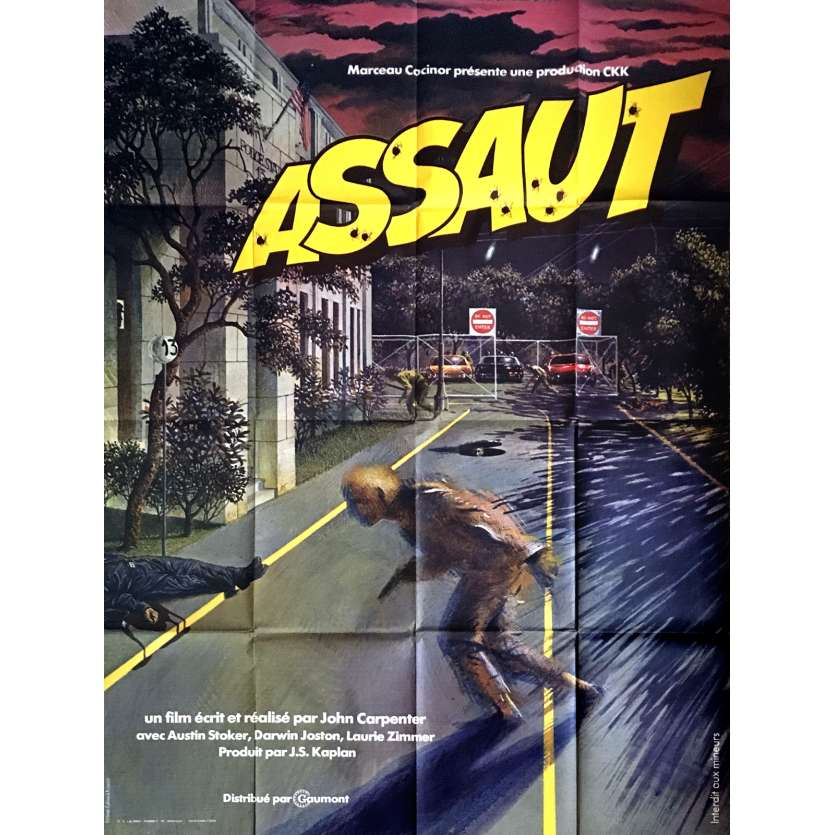 ASSAULT ON PRECINCT 13 French 1p Movie Poster '76 John Carpenter Classic