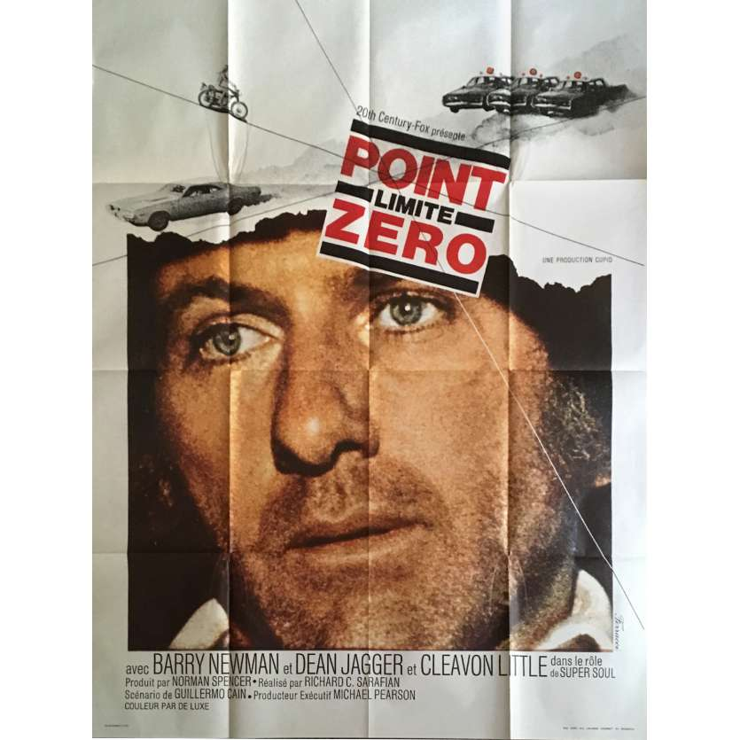 VANISHING POINT French Movie Poster 47x63 - 1971 - Dodge Charger